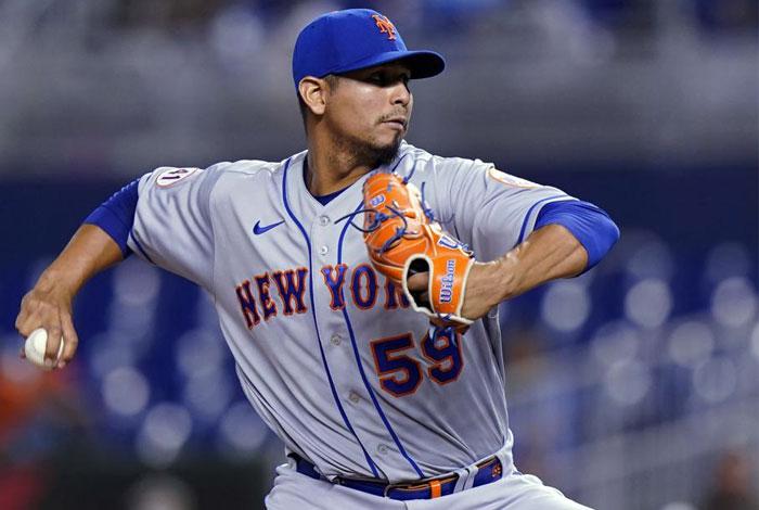 Carlos Carrasco se apuntó su primer triunfo con los Mets
